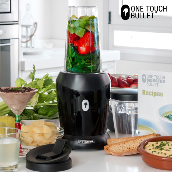 Cup Blender Appetitissime One Touch Monster Bullet 0,8 L 100-1200W Black