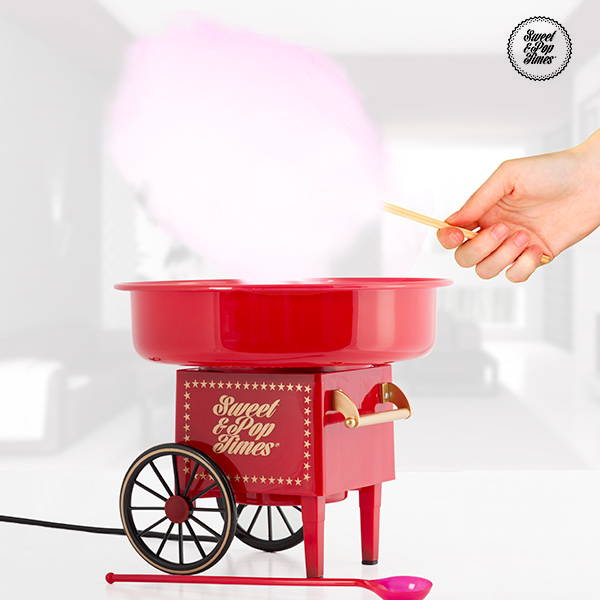 Candy Floss Machine Appetitissime Sweet & Pop 500W Red