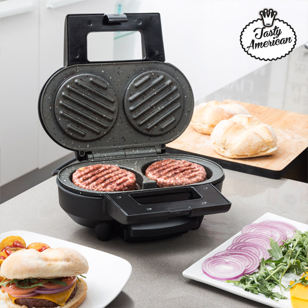 Hamburger-Maker Appetitissime Tasty American 1000W Red Black
