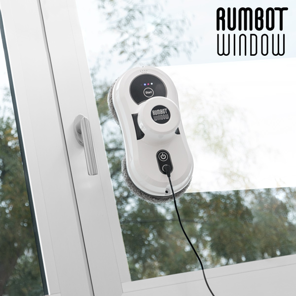 Glass Cleaning Smart Robot Omnidomo Rumbot Window 80W Black White