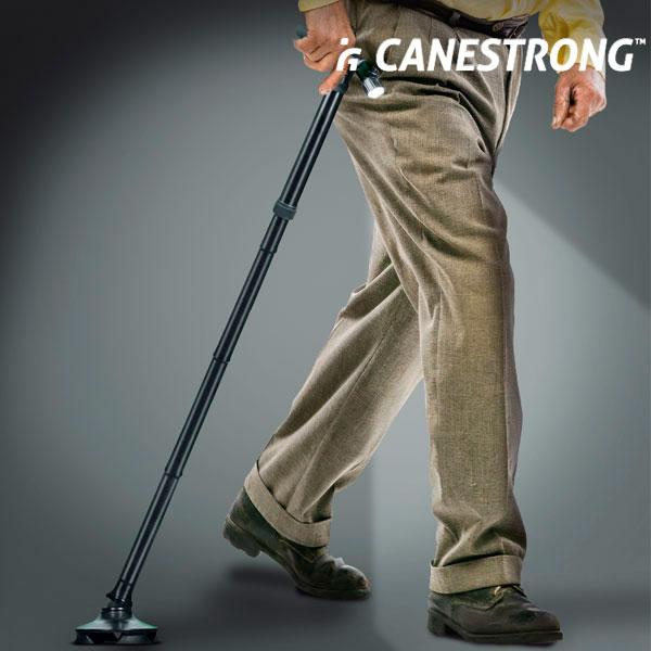 Canestrong Foldable Walking Stick with LED and Pivoting Base