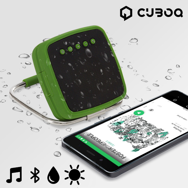 CuboQ Portable Solar Power Bluetooth Speaker