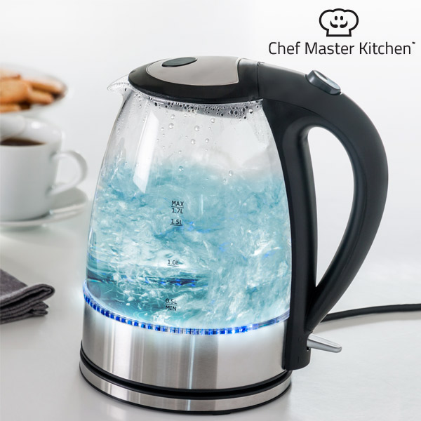Kettle Chef Master Kitchen LED 1,7 L 1850-2200W Steel Transparent