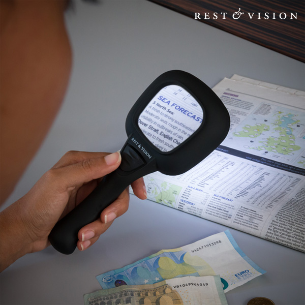 Magnifier & Vision Magnifying Glass with Ultraviolet and LED Light
